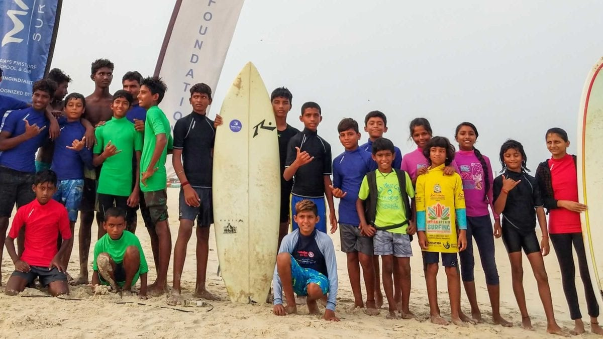 Surfing Swami Foundation - Groms supported by the Foundation