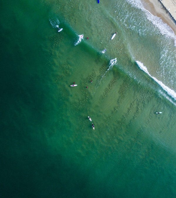 Surfing in Mulki - Bird eye View- Mantra Surf Club