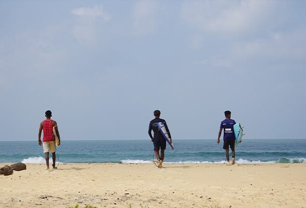 Mulki clean beach for surfing - Mantra Surf Club - Surfing India