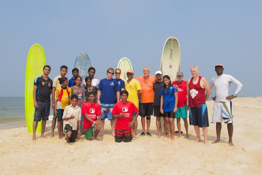 Jonty with Mantra Surf Club crew in Mulki