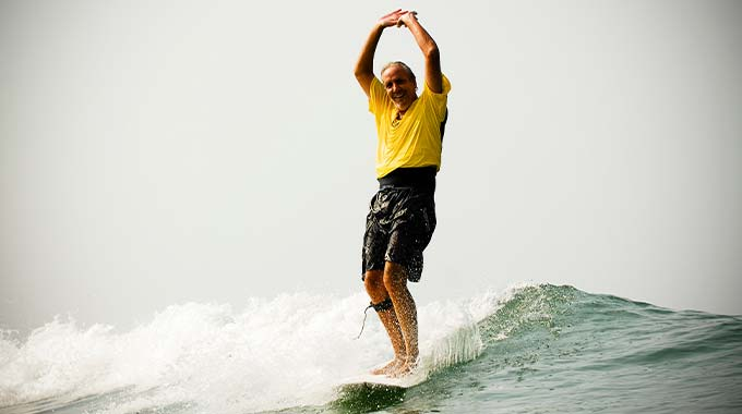 Surfing Swami - Pioneer of Surfing in India